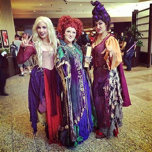 Hocus Pocus witches Halloween costumes BFF