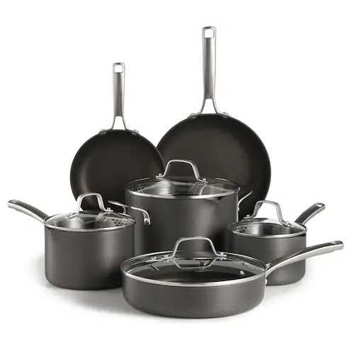 Calphalon Classic 10-piece Hard-Anodized Cookware