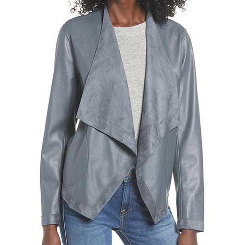 Teagan Reversible Drape Front Jacket