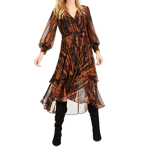 Bar III Becca Tilley x Animal Print Wrap Dress