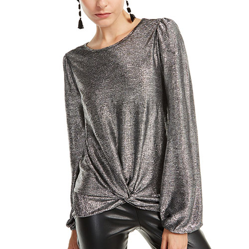 INC Twist-Front Shine Top