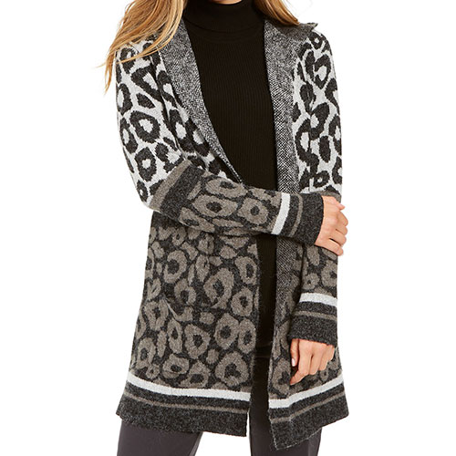 Style & Co Mixed-Print Cardigan
