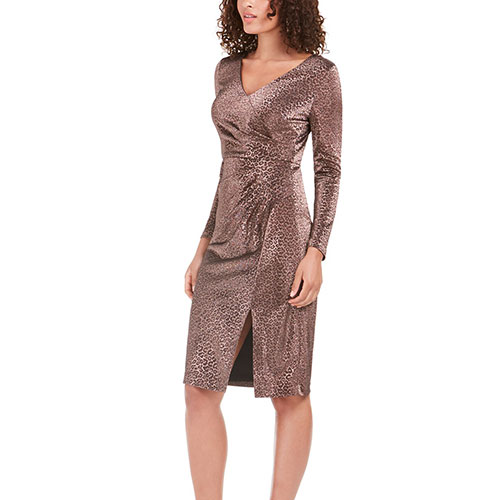 Vince Camuto Animal-Print Stretch Dress