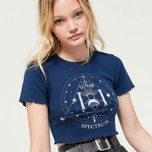 Urban Outfitters Lunar Lettuce-Edge Cropped Tee