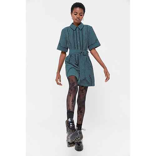C/meo Collective Long Lasting Button-Front Mini Dress