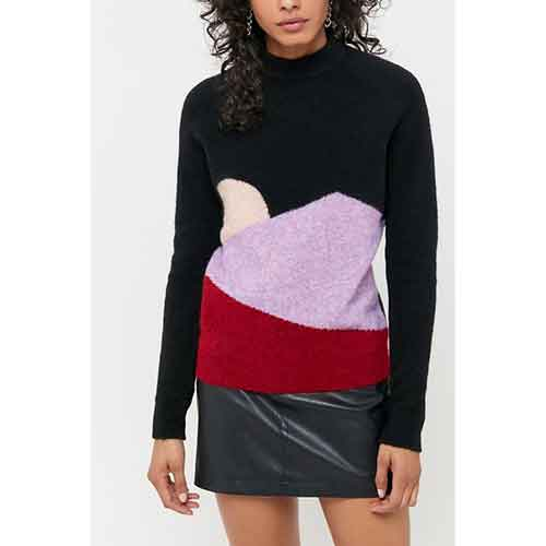 VEDA UO Exclusive Sunset Mock Neck Sweater