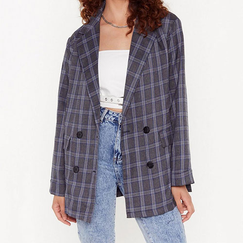 It's Been One Check of a Day Oversized Blazer