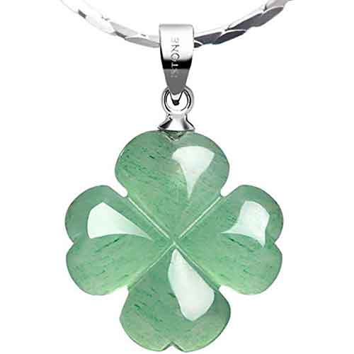 iStone Four Leaf Clover Pendant Necklace
