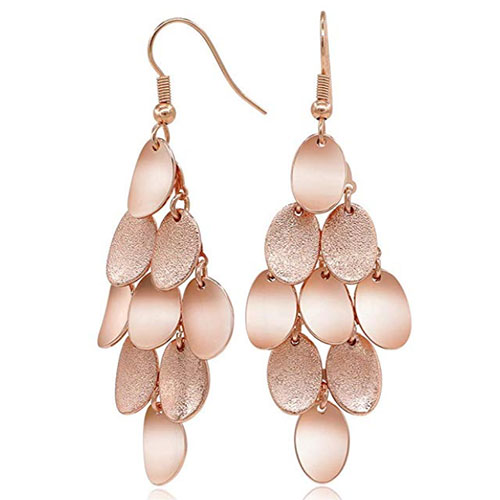 Kemstone Rose Gold Dangle Earrings