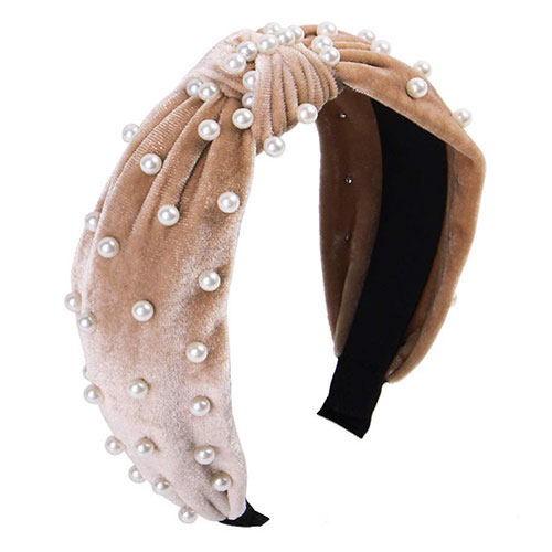 Lydztion Pearl Beaded Headband