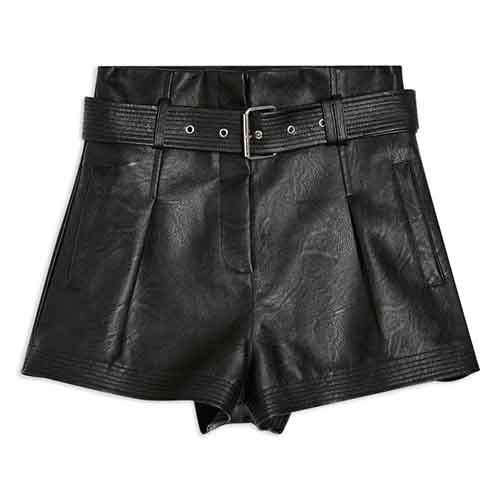 BLANKNYC Belted Faux Leathers Shorts