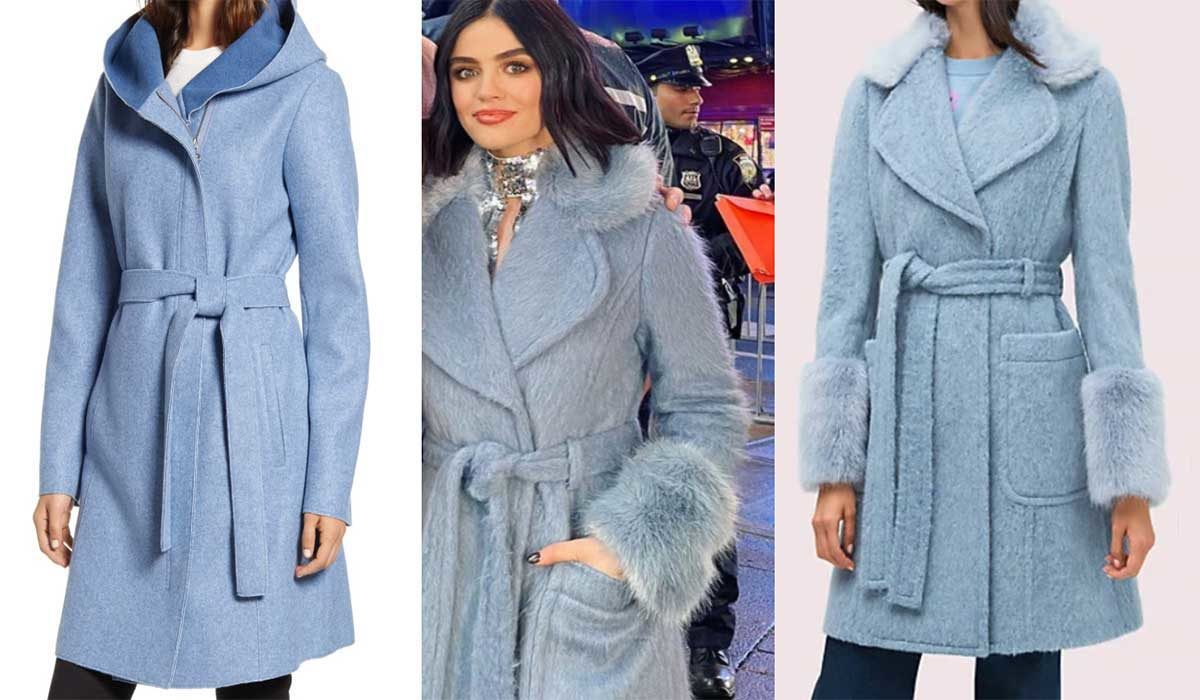 Lucy Hale Is Ready for 2020 in this Fabulous Kate Spade Coat