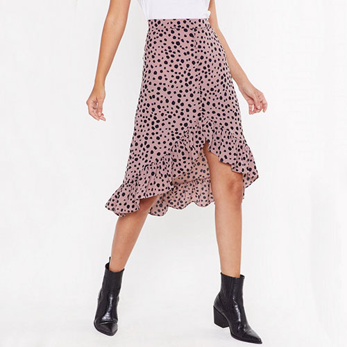 Nasty Gal Call It Dot You Want Skirt