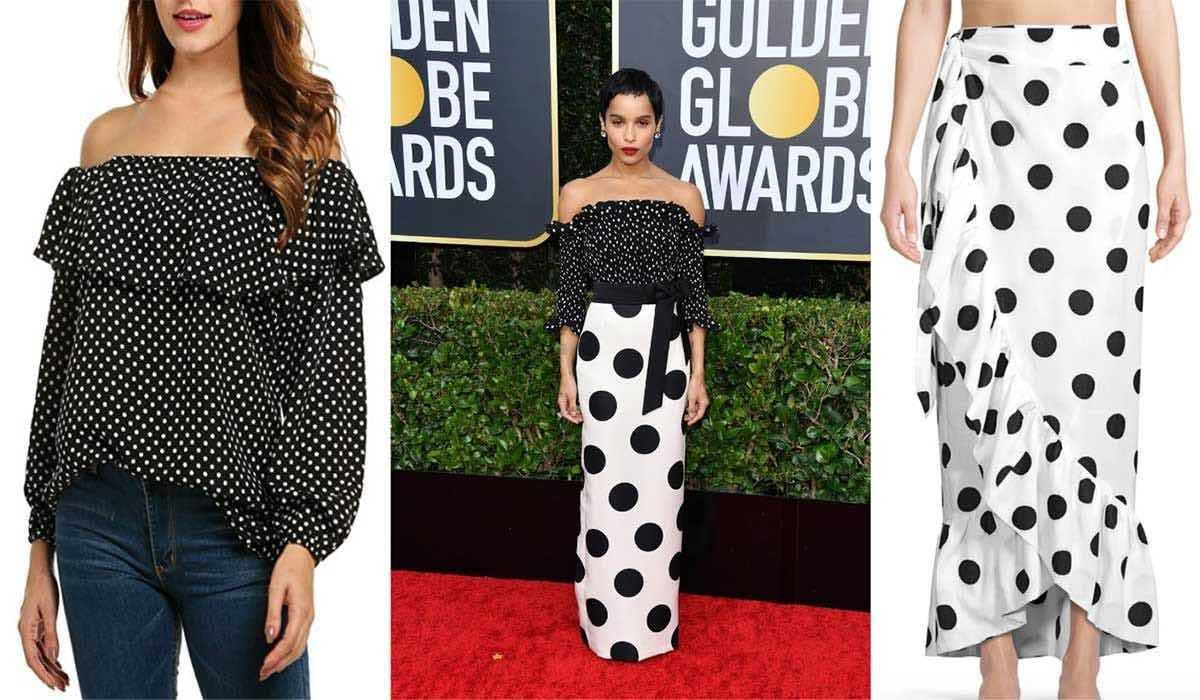 Zoe Kravitz Slayed the Golden Globes Red Carpet in Polka Dots
