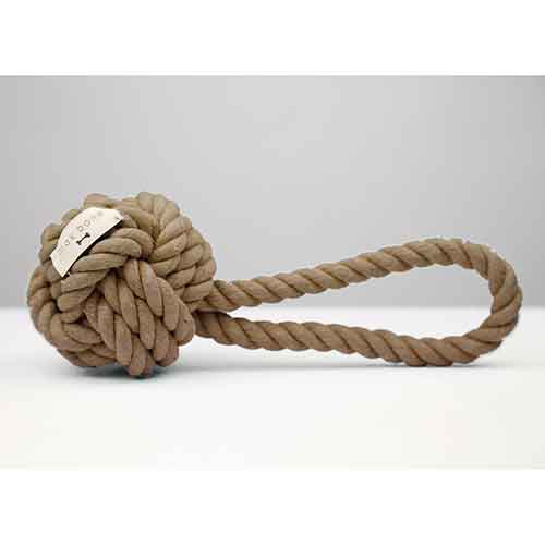 Max Bone Taupe Rope Toy
