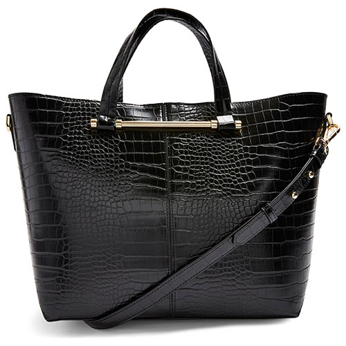 Taz Croc Embossed Faux Leather Tote