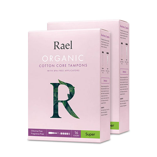 Rael Organic Cotton Super Absorbency Cotton Unscented Tampons