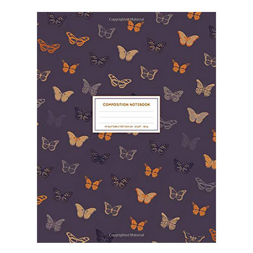 My Butterfly Pattern #3 Large Composition Notebook