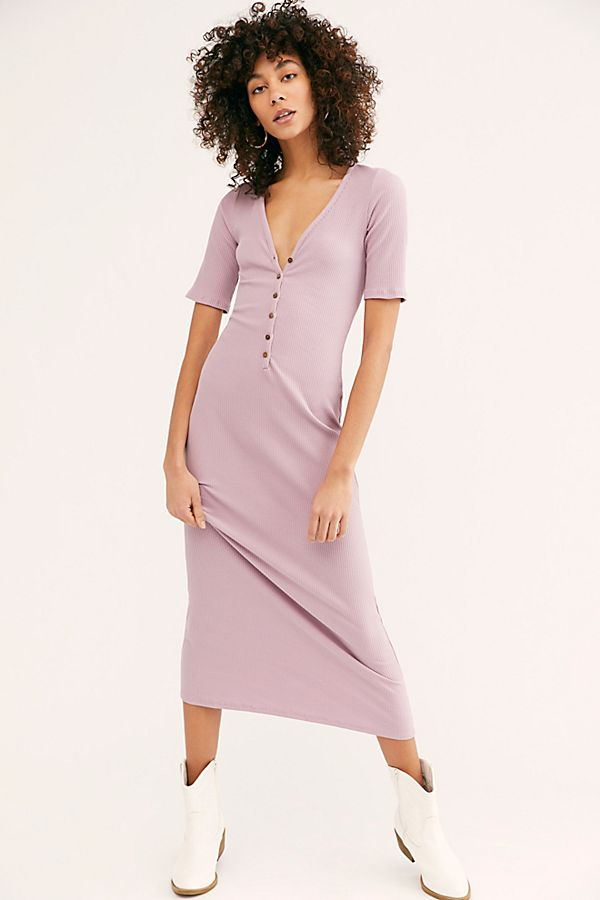 Free People Lulu Henley Midi Dress