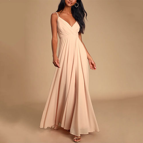 Lulus All About Love Blush Pink Maxi Dress