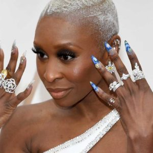 Cynthia Erivo Shut Down the Oscars Red Carpet with Her Mismatched Manicure