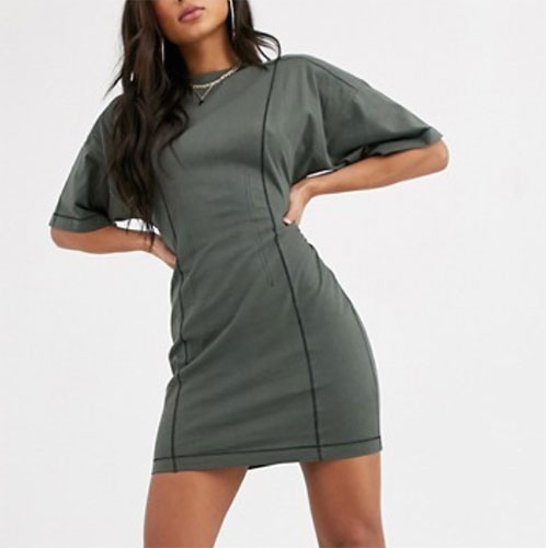 ASOS Corset Stitch T-Shirt Dress