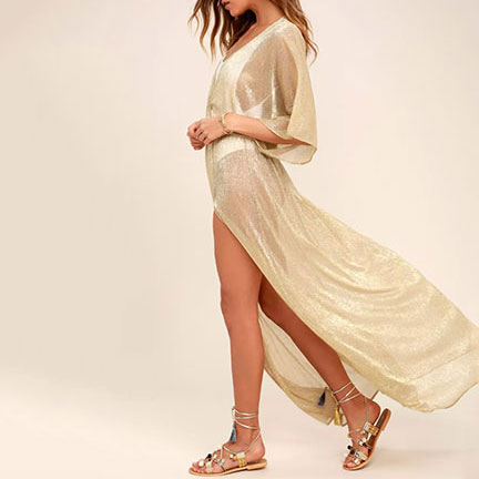 Midas Sheer Gold Maxi Cover-Up