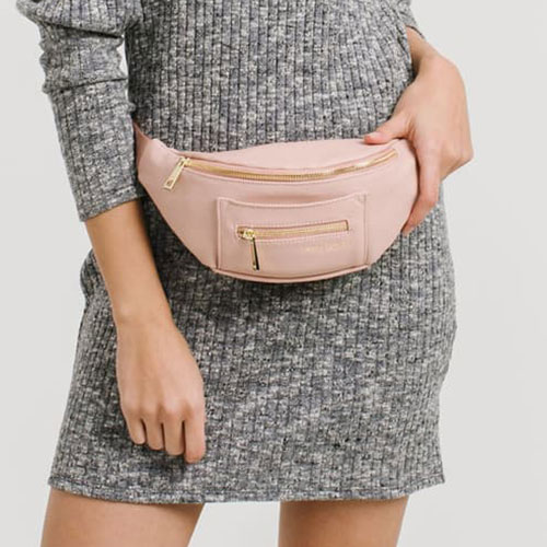 The Fawny Faux Leather Belt Bag