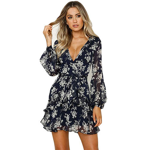 Rovlet Sexy Floral Dress