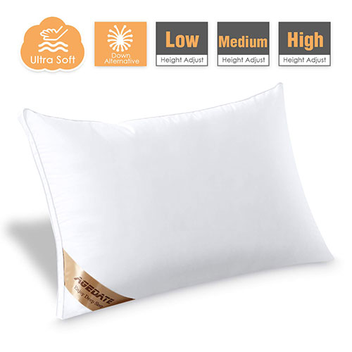 Agedate Adjustable Down Alternative Bed Pillow