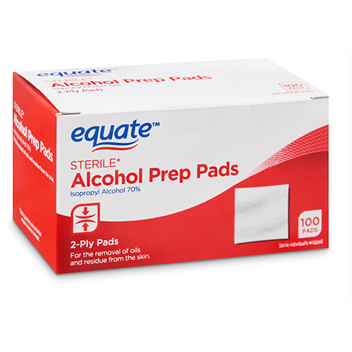 Equate Sterile Alcohol Prep Pads, 100 Count