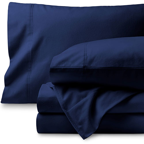 Bare Home 100% Cotton Velvet Flannel Sheet Set