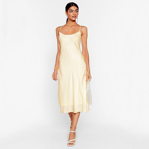 Don't Wait for It to Satin Midi Dress