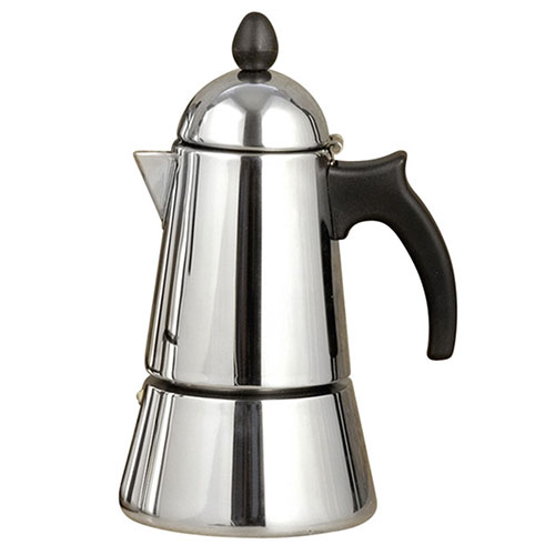 Konica Stainless Steel Stove Top, Espresso Maker, 4 Cups