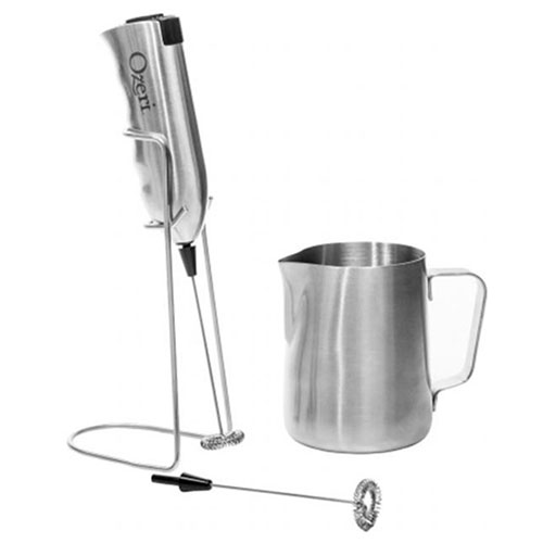 Ozeri Deluxe Milk Frother and 12 oz Frothing Pitcher, Stainless Steel