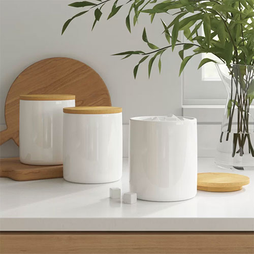 Dotted Line Kitchen Canister (Set of 3)