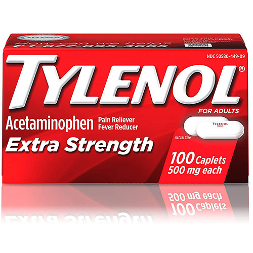 Tylenol Extra Strength 500mg Pain Reliever Caplets