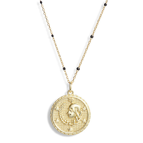 Argento Vivo Zodiac Pendant Necklace in Virgo