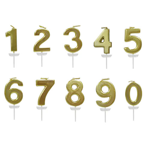 Gold Number Candle By Celebrate It