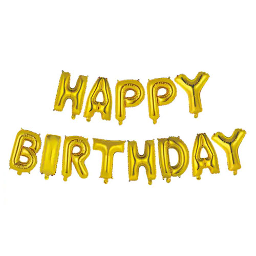 Happy Birthday Gold Foil Balloon Banner Kit By Celebrate It