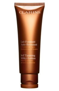 how to fix self-tanning disasters: nordstrom clarins self tanning milky lotion for face body