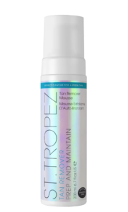 how to fix self-tanning disasters: ulta st tropez tan remover prep and maintain mousse
