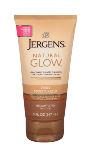 how to fix self-tanning disasters: ulta jergens natural glow daily moisturizer
