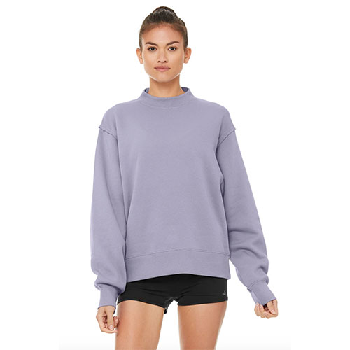 Alo Yoga Freestyle Sweatshirt in Blue Moon