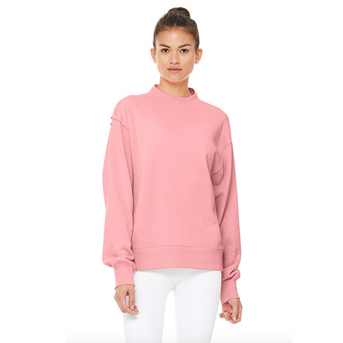 Alo Yoga Freestyle Sweatshirt in Macaron Pink