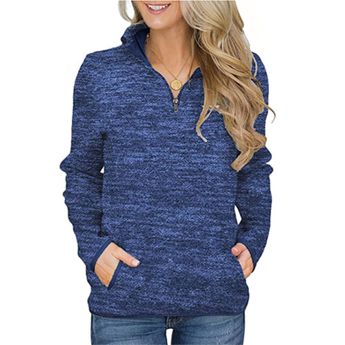Aleumdr Women's Casual Pullover Sweater