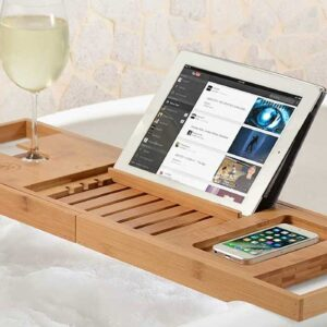 Amazon Shoppers Swear By This Wooden Bathtub Tray for Long, Luxurious Soaks
