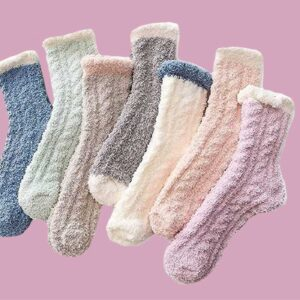 The Cutest, Coziest Fuzzy Socks for Lounging Around At Home