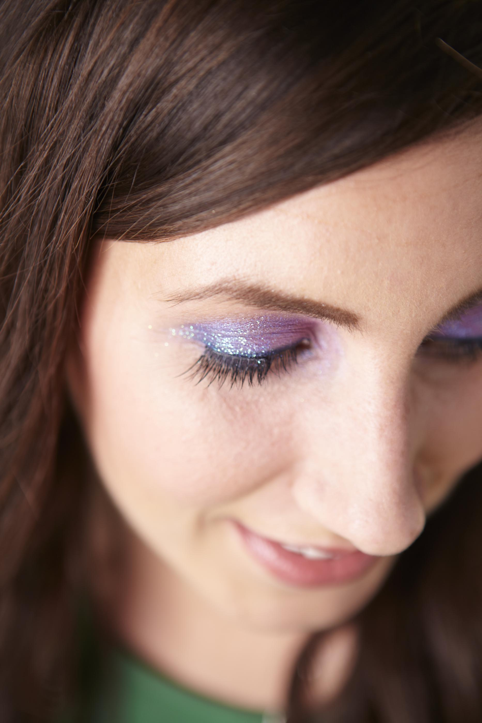 Rock a Purple Glitter Eye this New Year's Eve