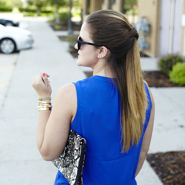 Try This Effortless & Chic Half Updo